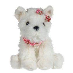 Plüss Westie kutyus 20 cm, fehér
