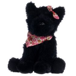 Plüss Westie kutyus 20 cm, fekete