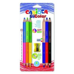 Színes ceruza készlet 6/12, DUO (kétvégű), Carioca Bi-Color
