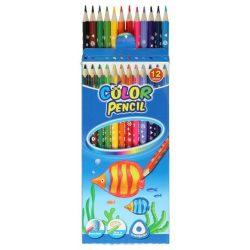 Színes ceruza készlet 12db-os, háromszög, Keyroad