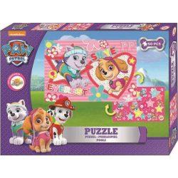 Mancs őrjárat puzzle 50db, kétoldalas, lányoknak