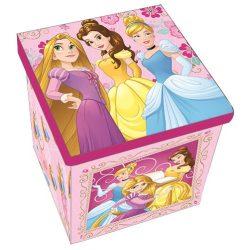 Hercegnők játéktároló doboz 30*30*30cm