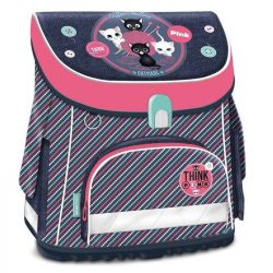 Cicás Think-Pink mágneszáras ergonomikus iskolatáska, 41 cm, csíkos