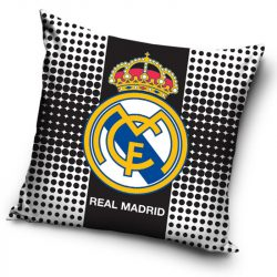 Real Madrid párnahuzat 40*40 cm, fekete-fehér