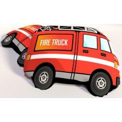 Tűzoltó autó párna, formapárna