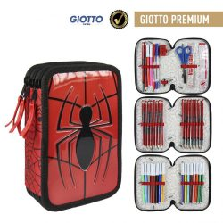 Pókember 3 emeletes tolltartó, töltött, Giotto prémium