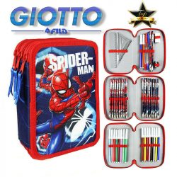 Pókember 3 emeletes tolltartó, töltött, Giotto