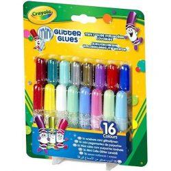 Crayola csillámos ragasztó, mini, 16 db-os