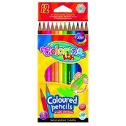 Színes ceruza készlet 12 db-os, Colorino, hatszögletű