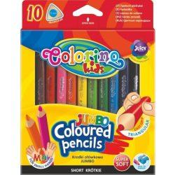 Színes ceruza készlet 10 db-os, Colorino MINI JUMBO trio