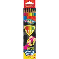 Színes ceruza készlet 6 db-os, Colorino Neon trio, háromszög test