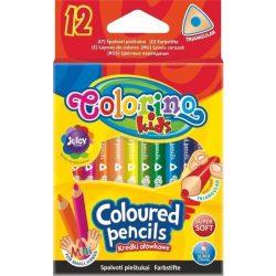 Színes ceruza készlet 12 db-os, Colorino MINI trio, háromszög forma