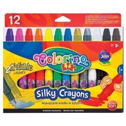 Colorino zsírkréta készlet, 12 db-os, extra lágy, TWIST, 3+