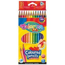 Színes ceruza készlet 12 db-os, Colorino trio, háromszög forma