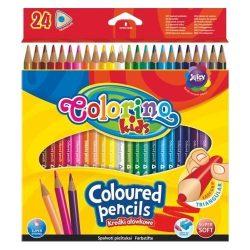 Színes ceruza készlet 24 db-os, Colorino trio, háromszög forma