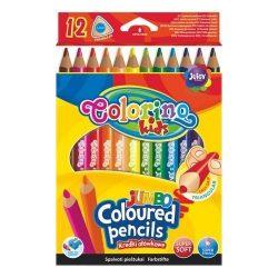 Színes ceruza készlet 12 db-os Colorino JUMBO trio, háromszög forma