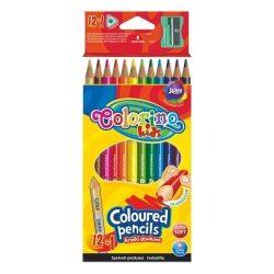 Colorino színes ceruza készlet, 12+1db-os, hegyezővel, háromszög forma