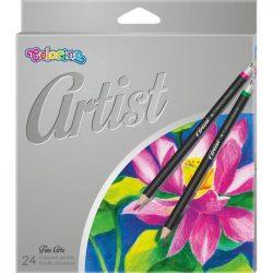 Színes ceruza készlet 24 db-os, Colorino Artist, kerek