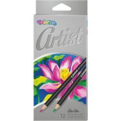 Színes ceruza készlet 12 db-os, Colorino Artist, kerek