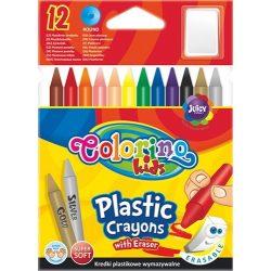 Zsírkréta készlet, 12 db-os, hegyezhető, Colorino Plastic