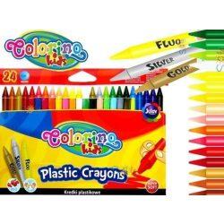Zsírkréta készlet, 24 db-os, hegyezhető, Colorino Plastic