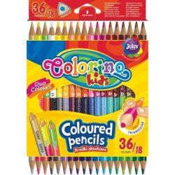 Színes ceruza készlet 18/36, DUO (kétvégű), Colorino, háromszög forma