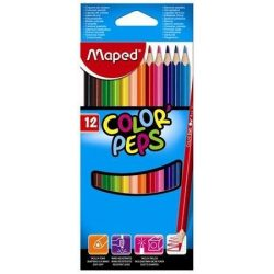 Színes ceruza készlet 12db-os, háromszög, Maped Color Peps