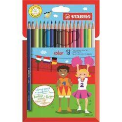 Színes ceruza készlet 18db-os, hatszögletű, Stabilo Color