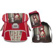 d695bbf3d11f Santoro Gorjuss ergonomikus iskolatáska szett tornazsákkal és tolltartóval,  Little Red Riding Hood