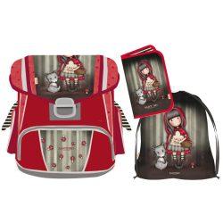 Santoro Gorjuss ergonomikus iskolatáska szett tornazsákkal és tolltartóval, Little Red Riding Hood