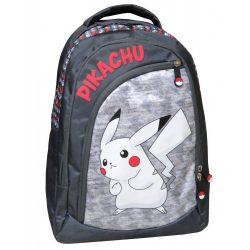 Pokémon hátizsák, iskolatáska 42 cm, fekete-szürke
