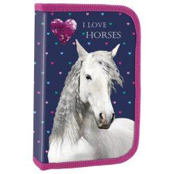 Lovas tolltartó, üres, klapnis, I love horses