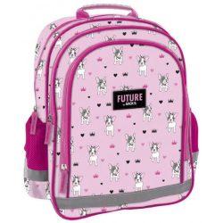 Kutyás iskolatáska, hátizsák, 38 cm, rózsaszín