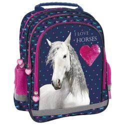 Lovas táska, hátizsák, 38 cm, I love horses