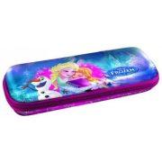 Jégvarázs tolltartó, ovális, Elsa, Anna és Olaf