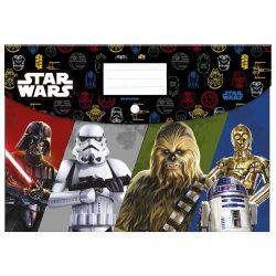 Star Wars irattartó tasak A/4, patentos, műanyag