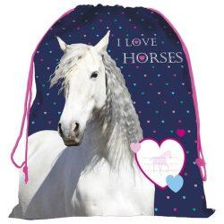 Lovas tornazsák 41 cm, I love horses