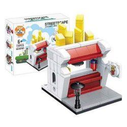 Építő kocka készlet, 126 db-os, Chip Shop