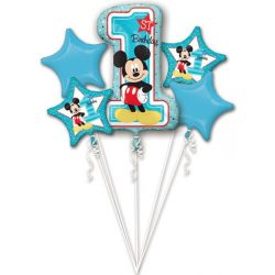 Mickey fólia lufi szett, 5 db-os, első szülinap