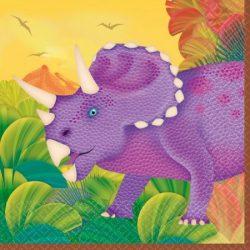 Dinoszaurusz szalvéta 16 db-os, 25 cm