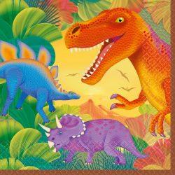 Dinoszaurusz szalvéta 16 db-os, 33 cm