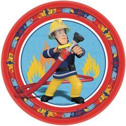 Sam a tűzoltó papírtányér 23 cm, 8 db-os