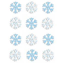 Fa karácsonyi formák, hópehely, 12 db-os