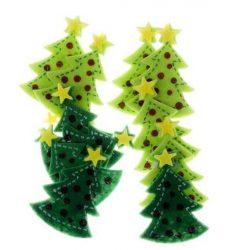 Filc formák, öntapadós, karácsonyfák, 12 db-os