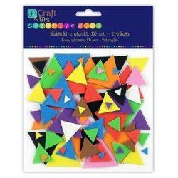 Dekorgumi, öntapadós, háromszögek, 100 db-os