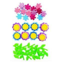 Dekorgumi, öntapadós, virágok 3D, 40 db-os