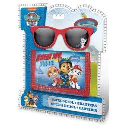 Mancs őrjárat pénztárca és napszemüveg, fiúknak