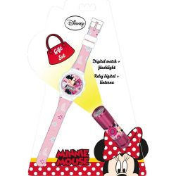 Minnie digitális karóra és led lámpa