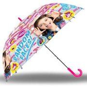 Soy Luna félautomata átlátszó esernyő 80 cm