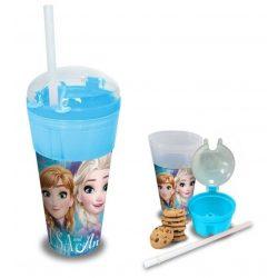 Jégvarázs pohár snack tartóval